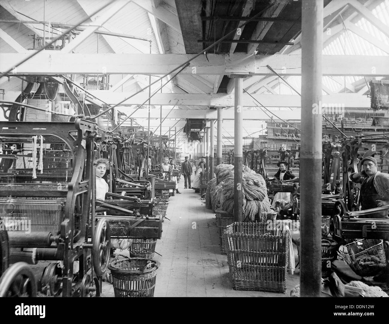 Early Blanket Factory, Witney, Oxfordshire, 1898. Artist: Henry Taunt - Stock Image