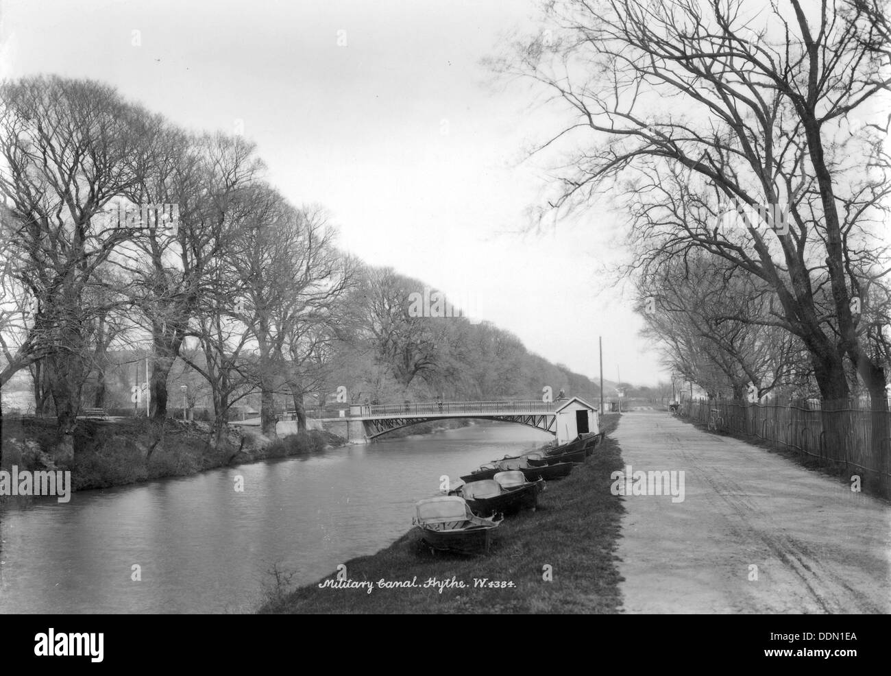 Military Canal, Kent, 1890-1910. - Stock Image