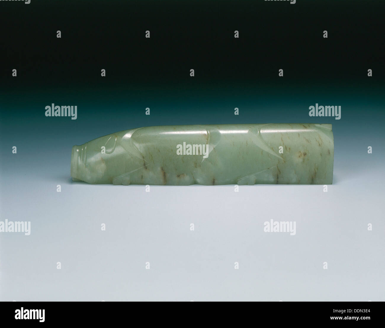 Stylised jade pig, Han dynasty, China, 206 BC-220. - Stock Image