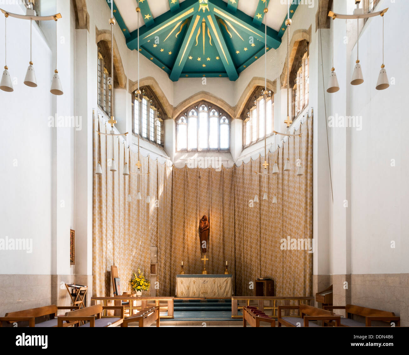 Guildford Cathedral, Guildford, United Kingdom. Architect: Sir Edward Maufe, 1961. Chapel. Stock Photo