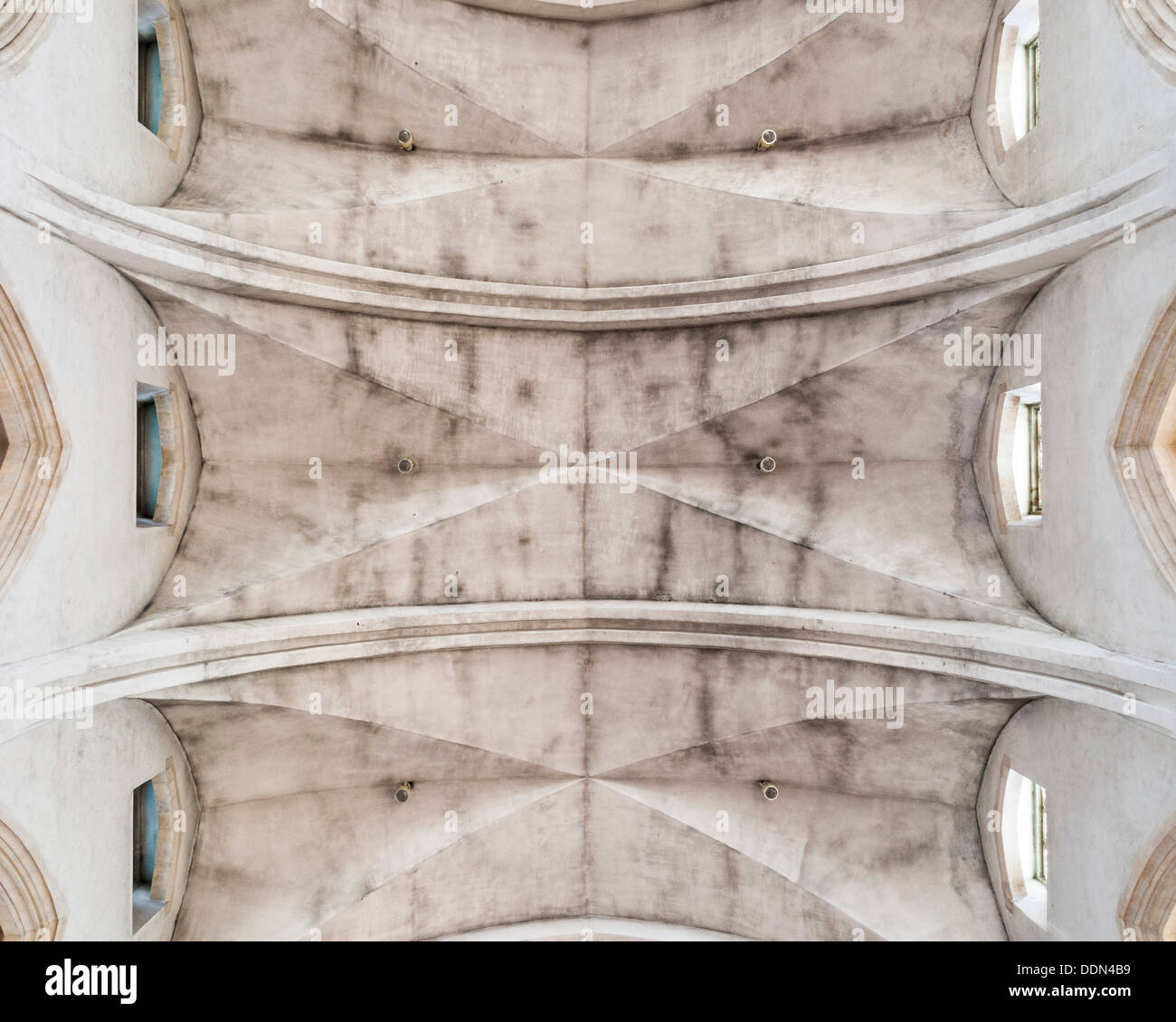 Guildford Cathedral, Guildford, United Kingdom. Architect: Sir Edward Maufe, 1961. Ceiling detail. Stock Photo