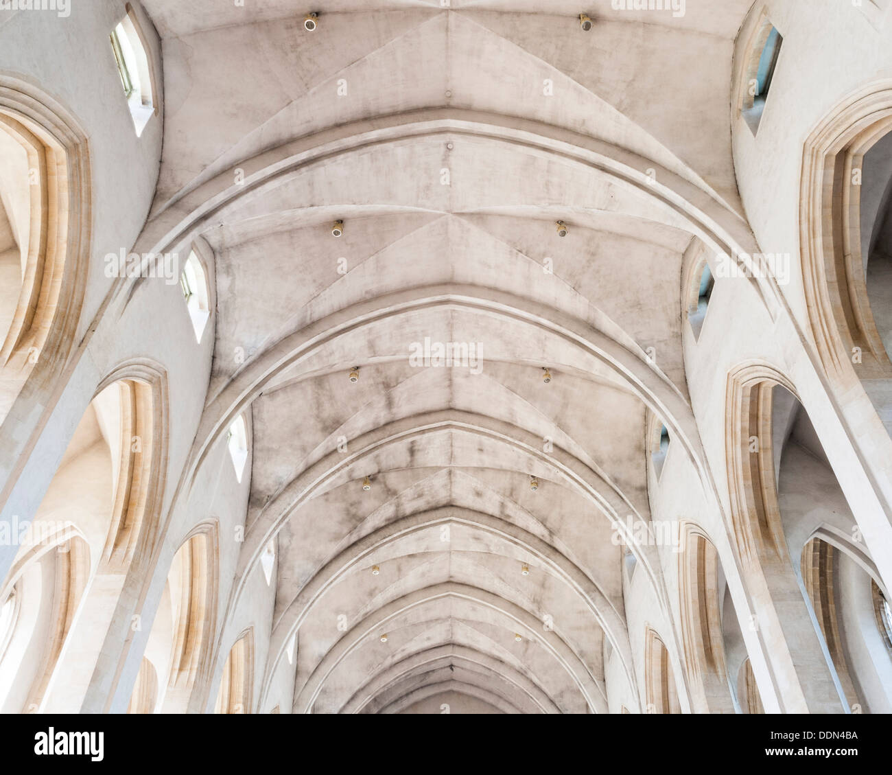 Guildford Cathedral, Guildford, United Kingdom. Architect: Sir Edward Maufe, 1961. Ceiling. Stock Photo
