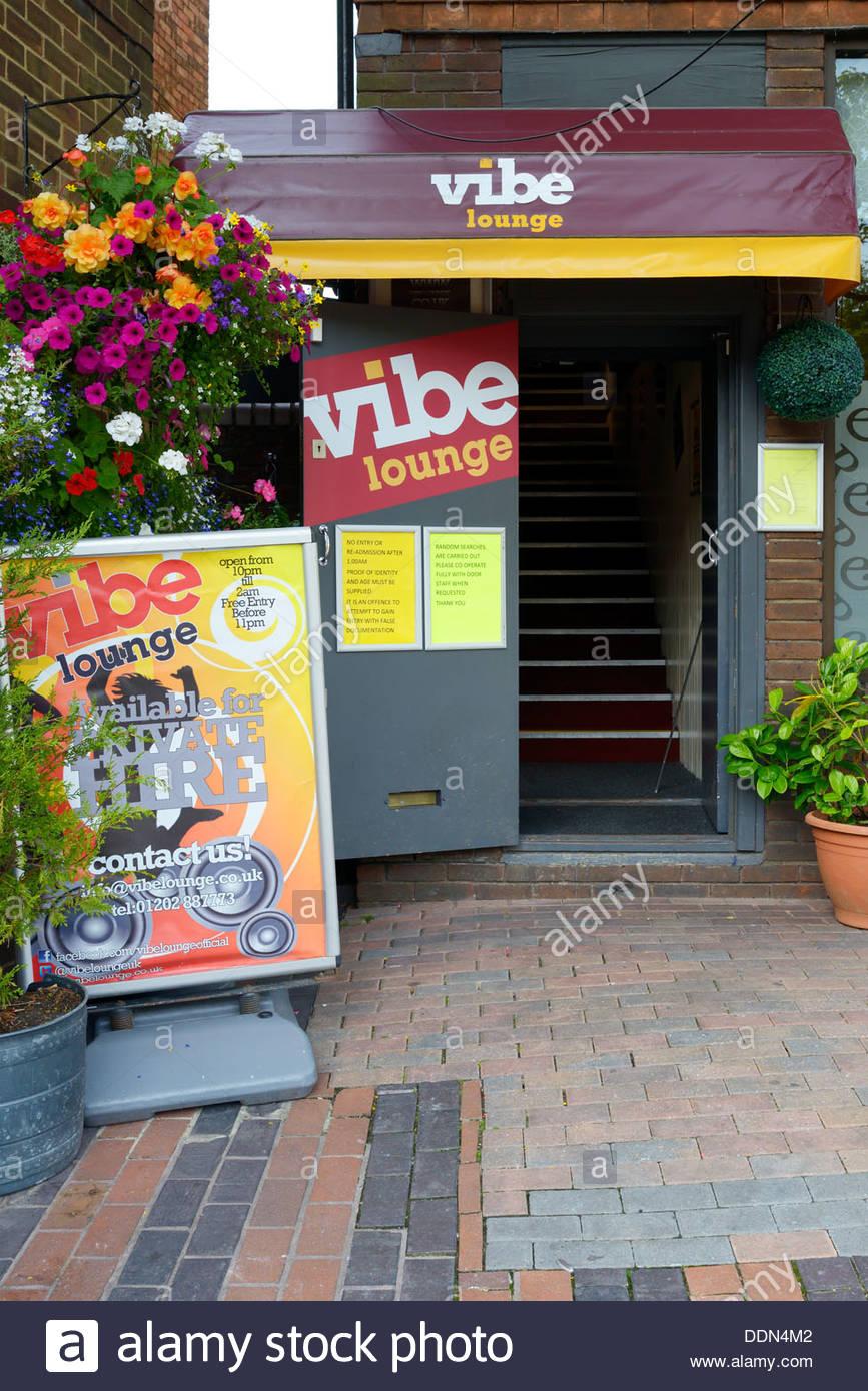 The Vibe Lounge night club, Wimborne Minster, Dorset England UK - Stock Image