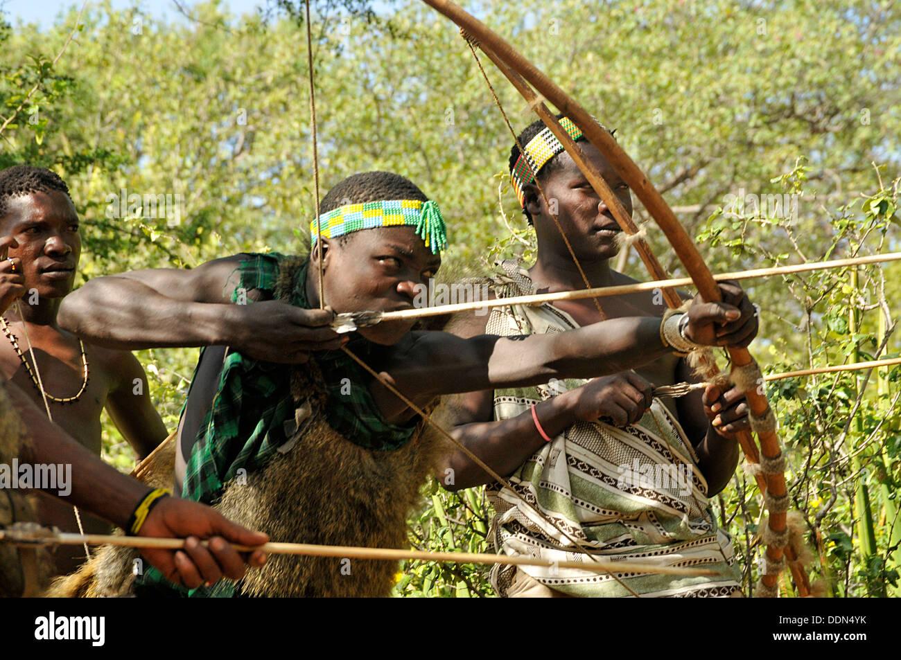 arrow bow hunting tribe stock photos arrow bow hunting tribe stock