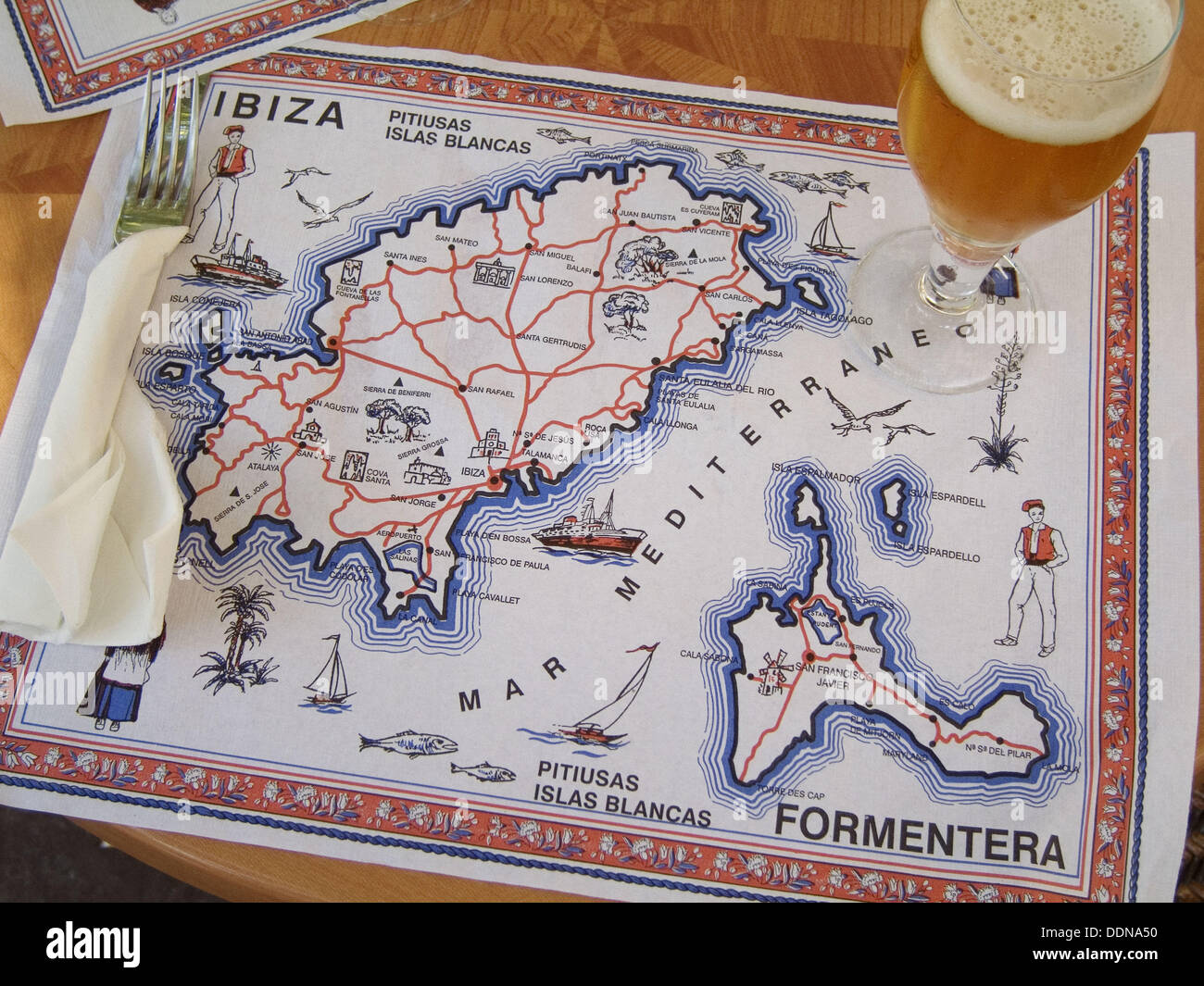 Balearic Islands Map Stock Photos Balearic Islands Map Stock