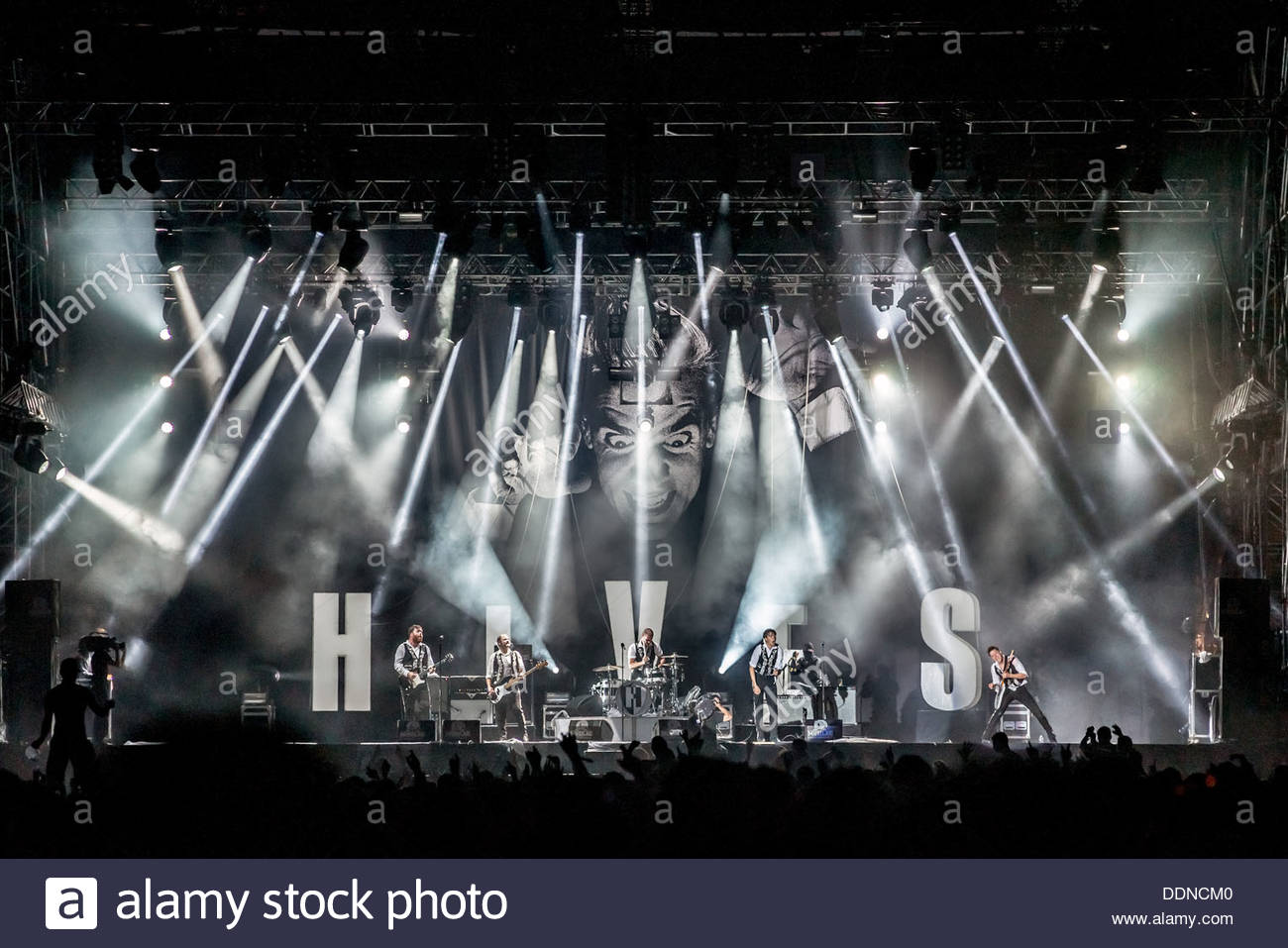 The Hives performing live - Stock Image