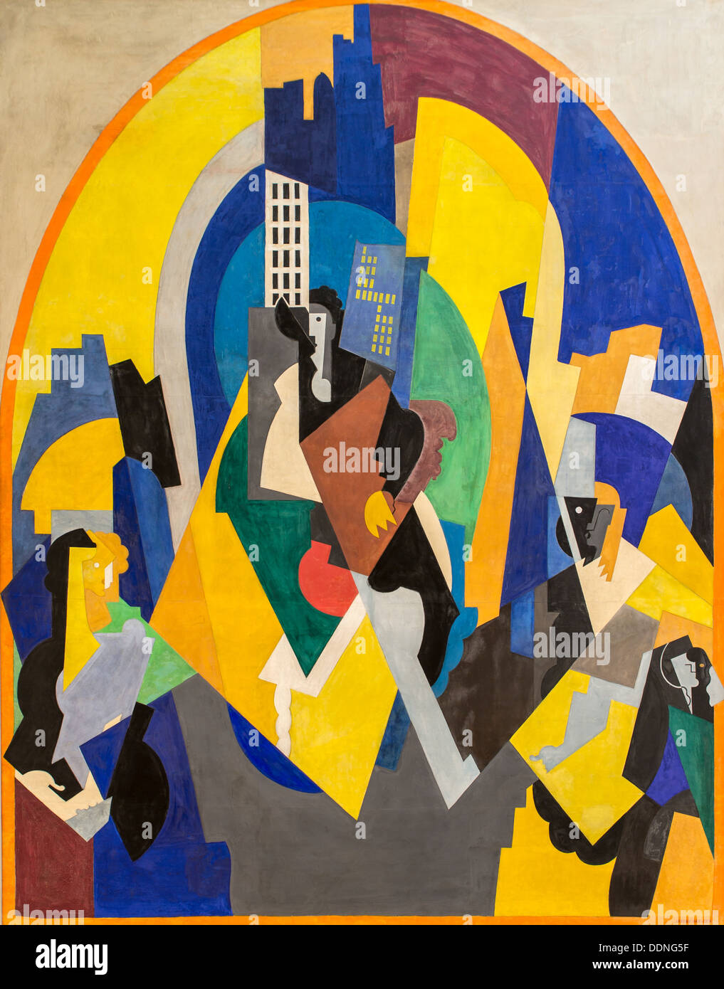 20th century  -  Punctuated space according to plan, 1920 - Albert Gleizes Philippe Sauvan-Magnet / Active Museum Oil on canvas - Stock Image