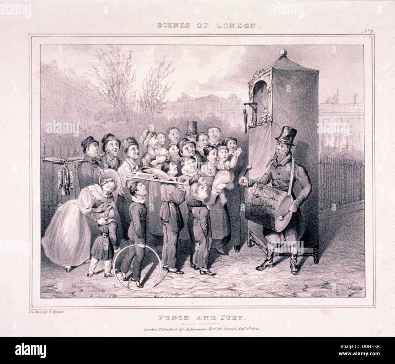 'Punch and Judy', 1834. Artist: G Rymer - Stock Image