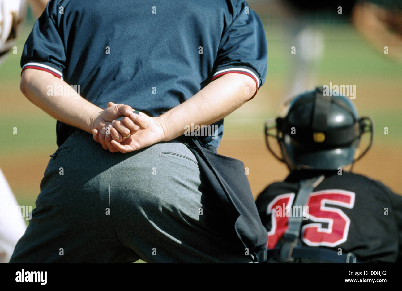 Baseball umpire and catcher & Baseball umpire and catcher Stock Photo: 60097466 - Alamy
