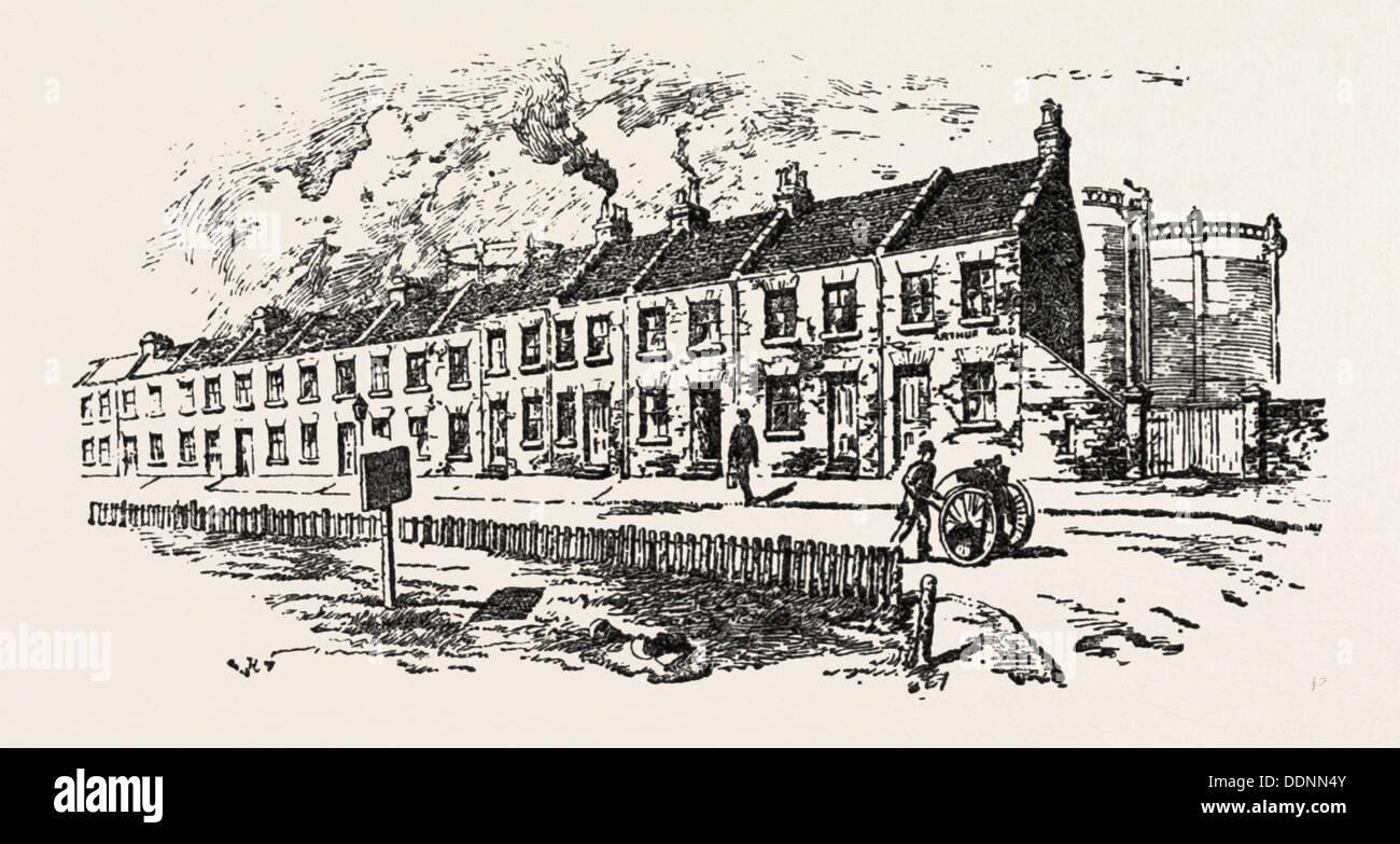 PRINCESS CHRISTIAN'S VISITING DISTRICT, IN THE PARISH OF HOLY TRINITY, WINDSOR, UK, britain, united kingdom, u.k. - Stock Image