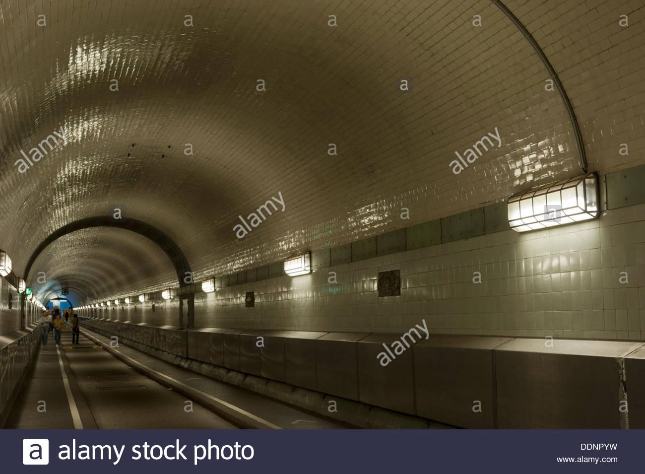 Old Elbe Tunnel, Hamburg, Germany Stock Photo