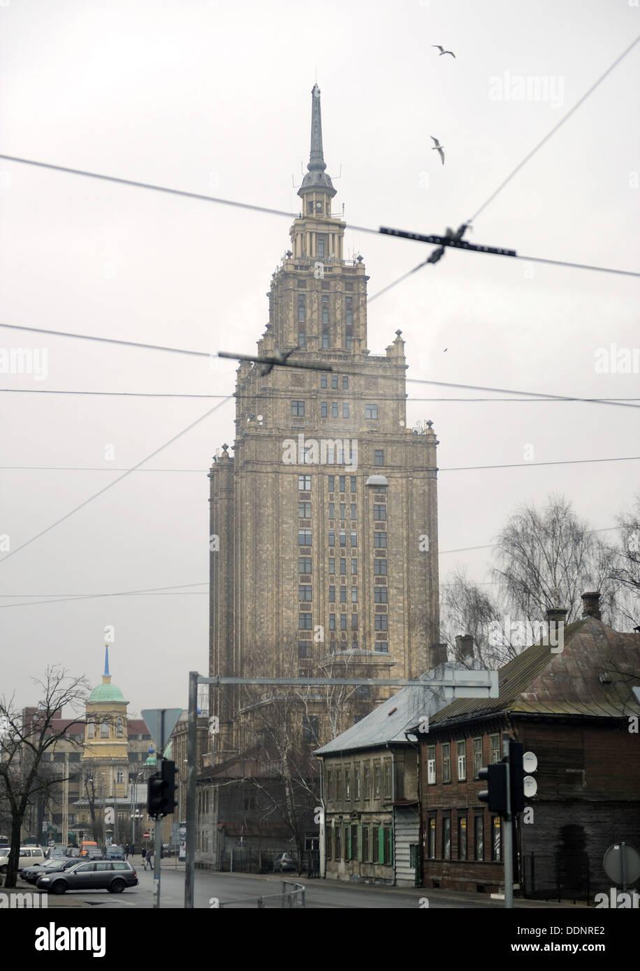 Latvia. Riga. Soviet building. - Stock Image