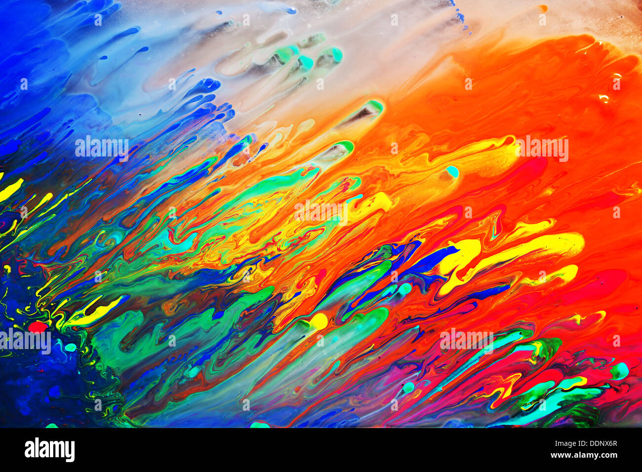 Bright Colourful Abstract Art Painting Background Close Up