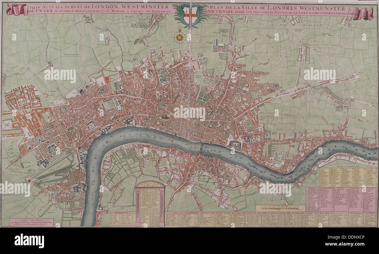 Map of London 1725 Artist Anon