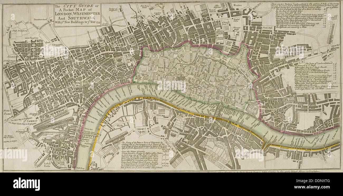 Map of London 1753 Artist Anon