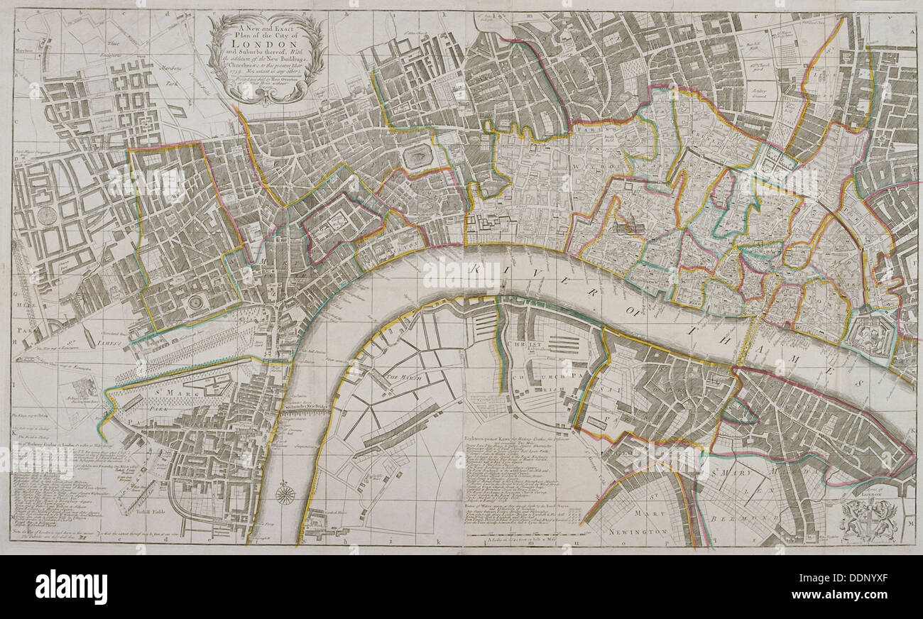 Map of Westminster the City of London