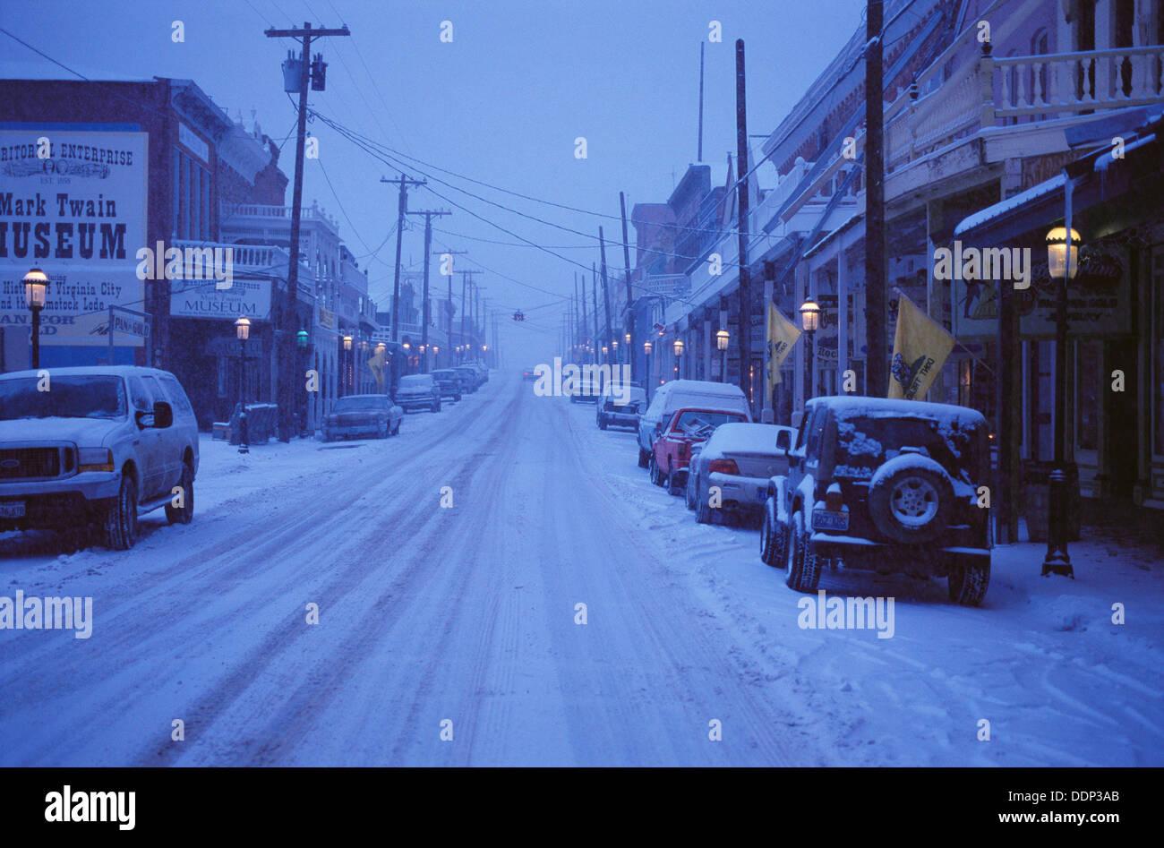 Nevada City Nevada Usa Snow High Resolution Stock Photography And Images Alamy