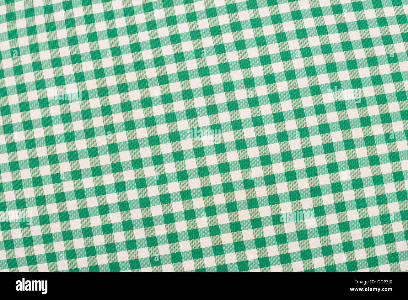 Green and white checkered fabric, traditional picnic tablecloth Stock Photo  - Alamy