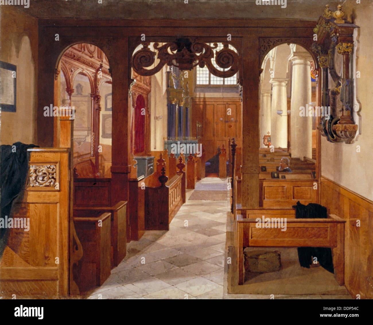 Interior Of Charterhouse Chapel, London, 1885. Artist: John Crowther