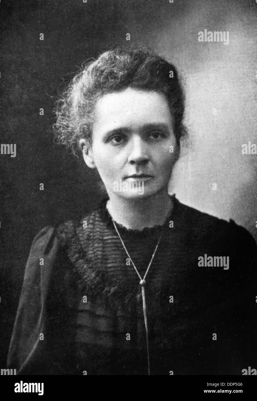 Marie Curie - French physicist - 1917 - Stock Image