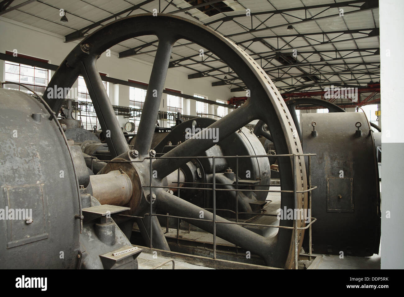 Compressors room in former Hansa coking plant (went into operation in 1928), now a technical museum, Dortmund, Germany Stock Photo