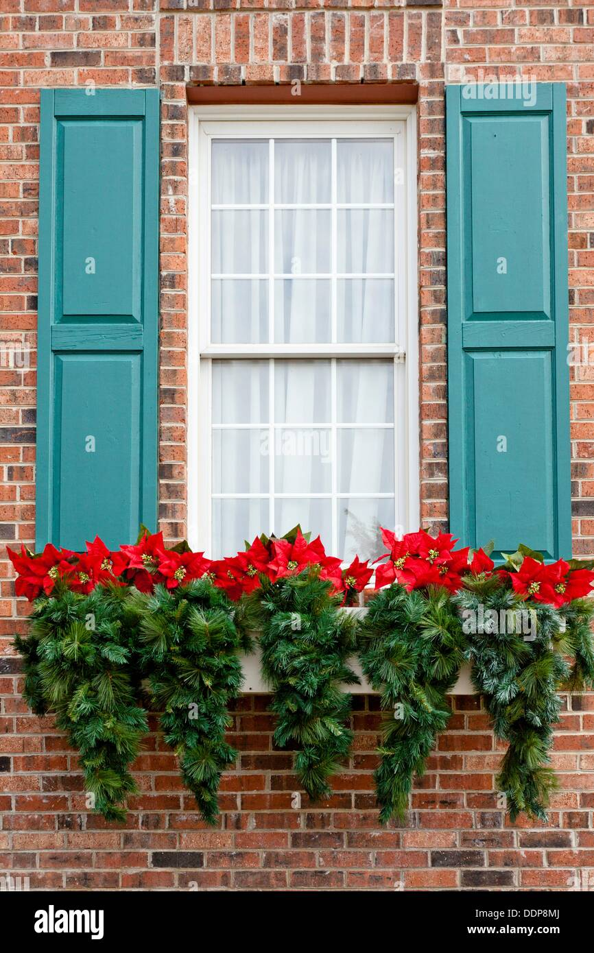 a christmas decorated window box at the dixie stampede theater in branson missouri usa - Christmas In Dixie