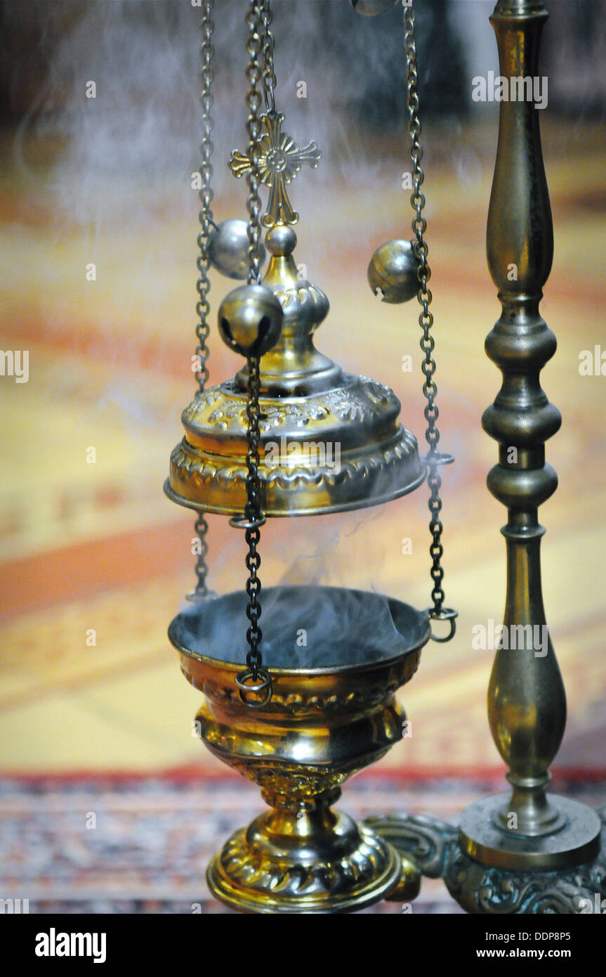 Incense Holder Used In Religious Ceremonies In Church Stock Photo Alamy