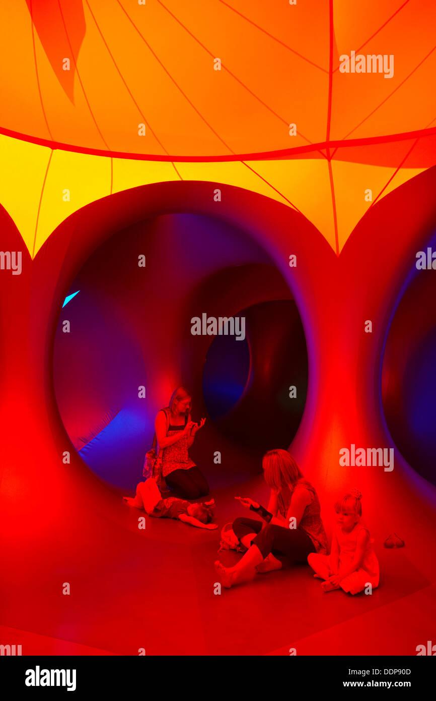 Inside the Amococo Luminarium at Bournemouth, Dorset UK in September Credit:  Carolyn Jenkins/Alamy Live News Stock Photo