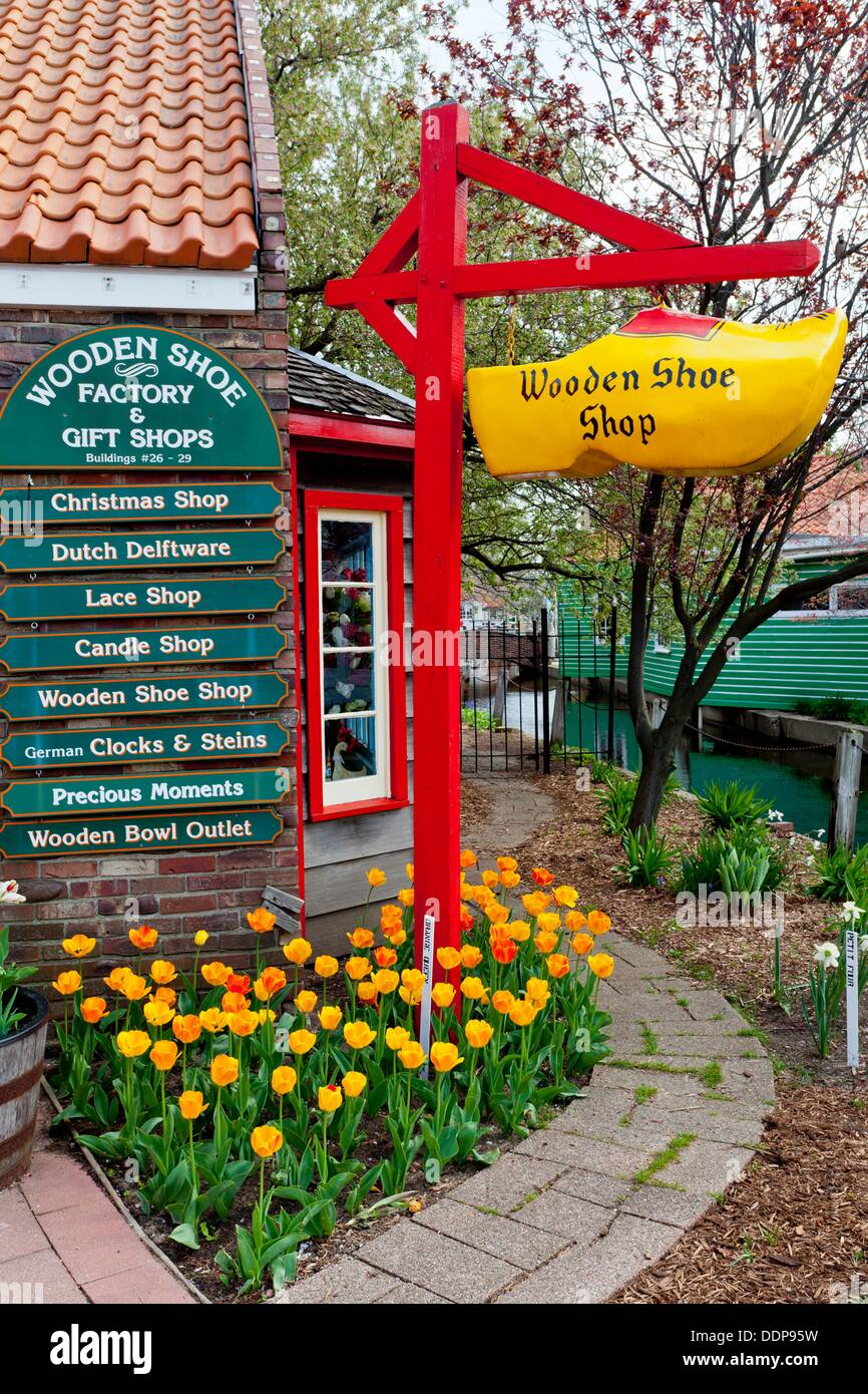 The Wooden Shoe Shop At The Dutch Village Tourist Attraction In