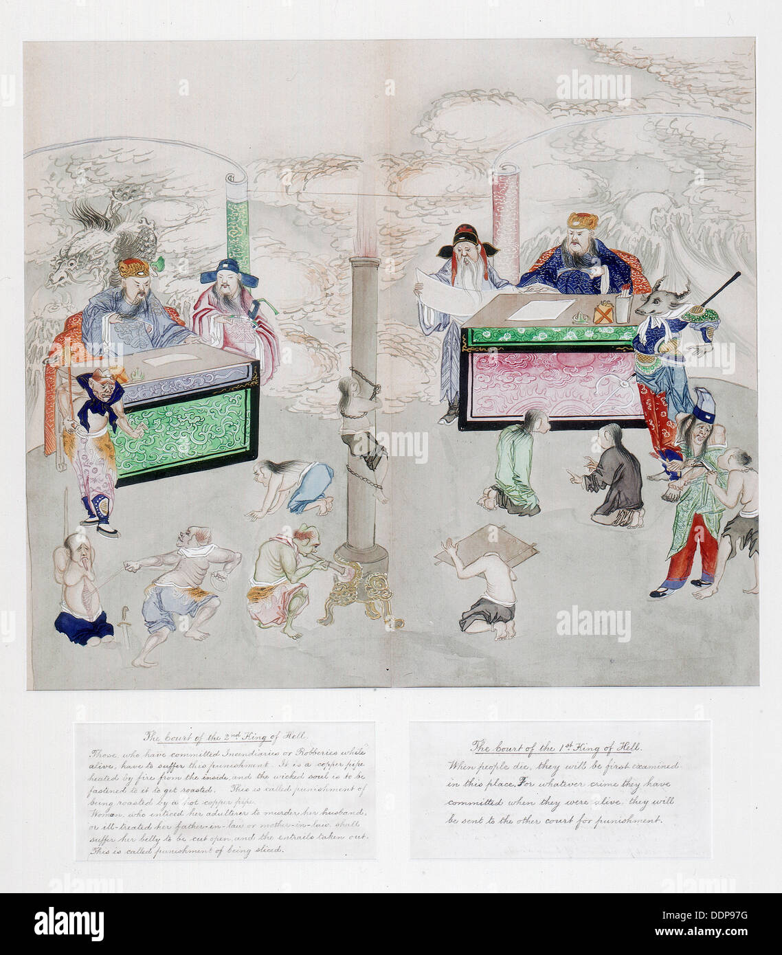 Qing Dynasty 19th Stock Photos Images Alamy Wire Diagram One Of A Set Paintings The Ten Courts Hell