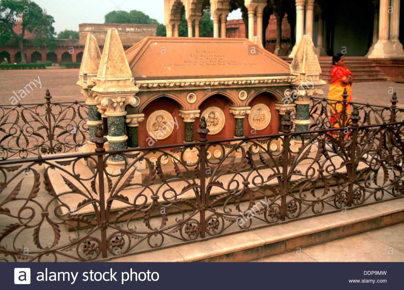 Tomb of John Russell Colvin, Fatehpur Sikri, India. Artist: Dr Stephen Coyne - Stock Image