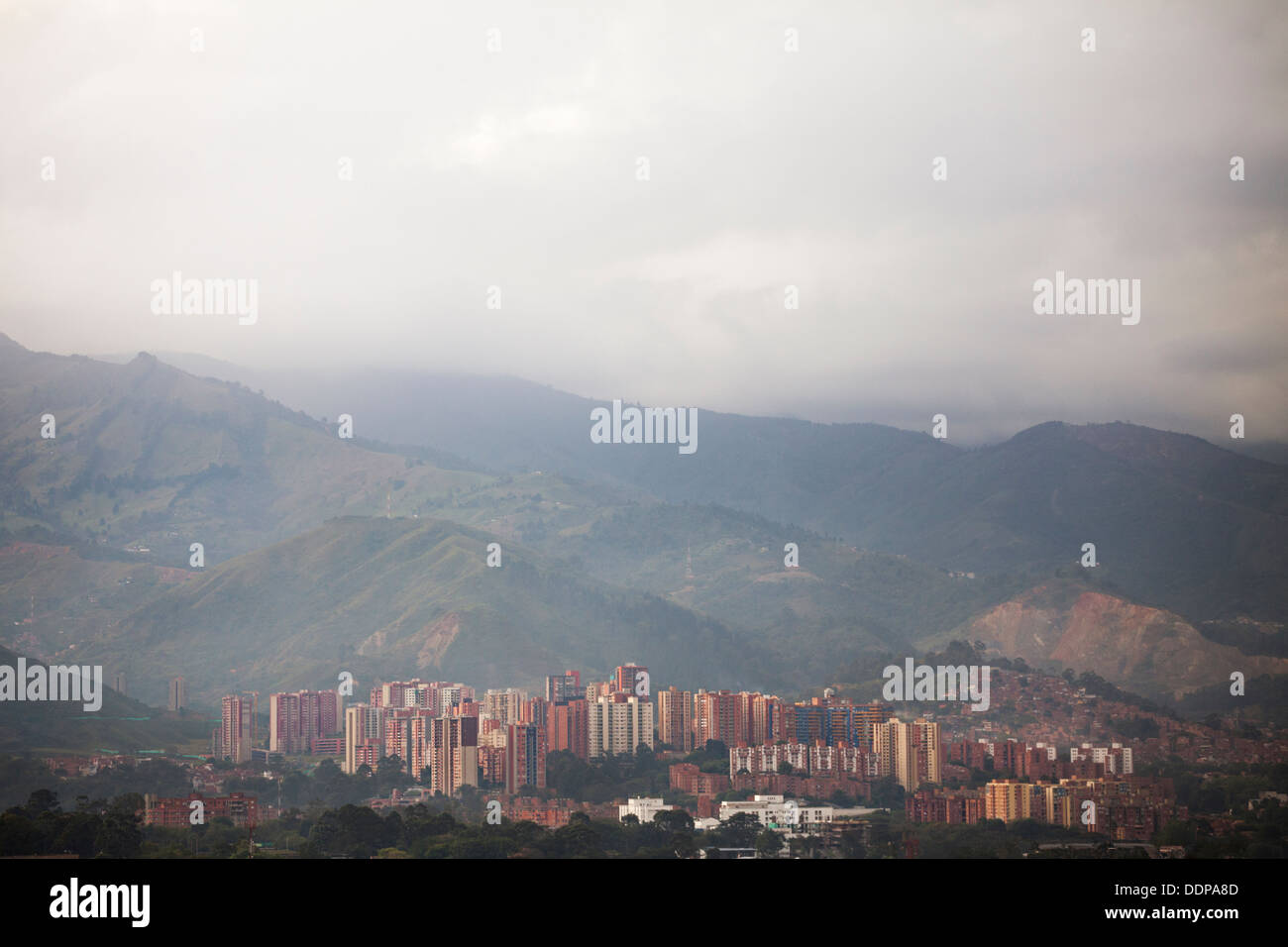 Medellin, Colombia - apartment houses in the northwest of the capital of Antioquia - Stock Image