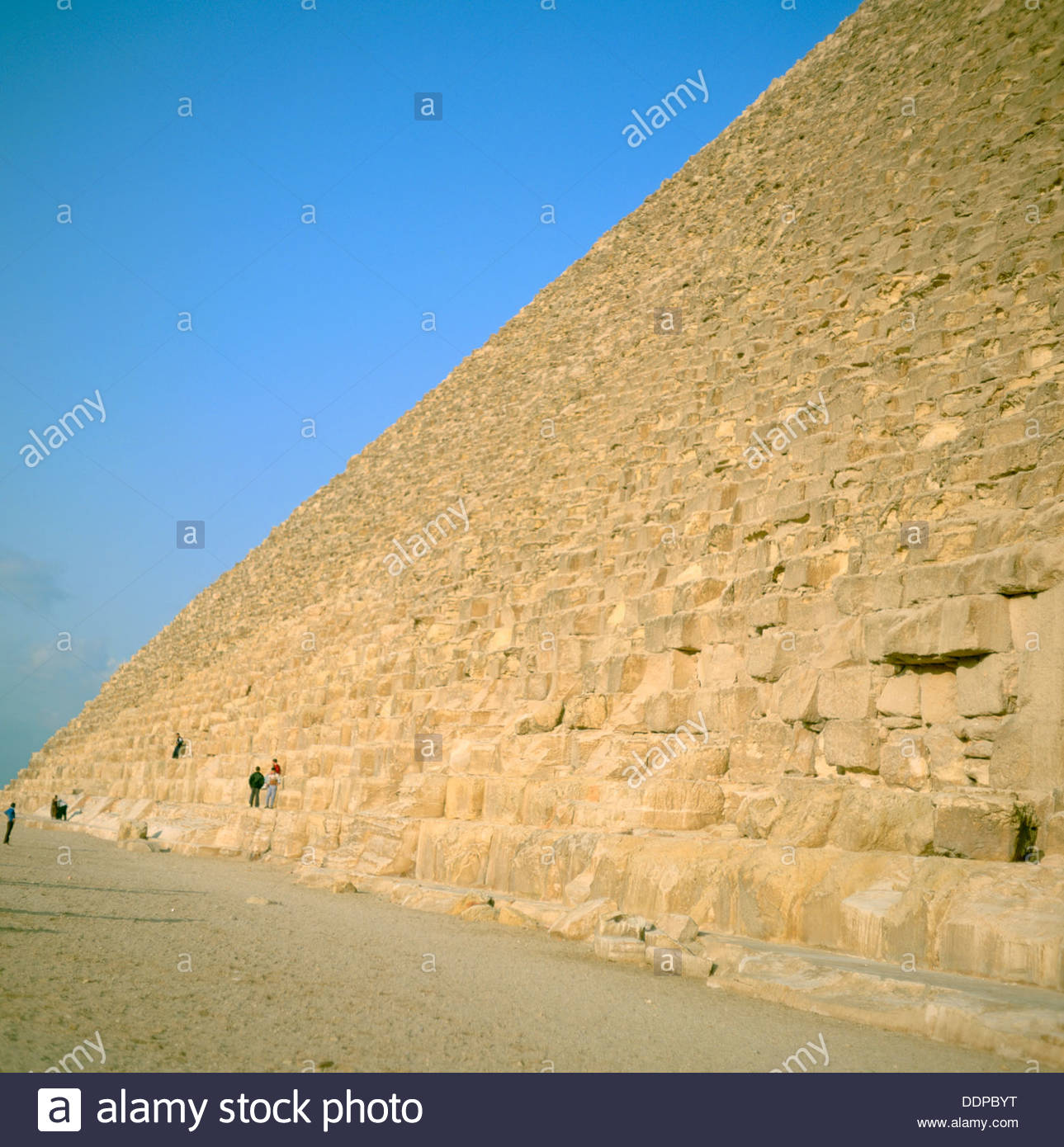 Great Pyramid of Cheops, Giza, Egypt. Artist: Dr Stephen Coyne - Stock Image