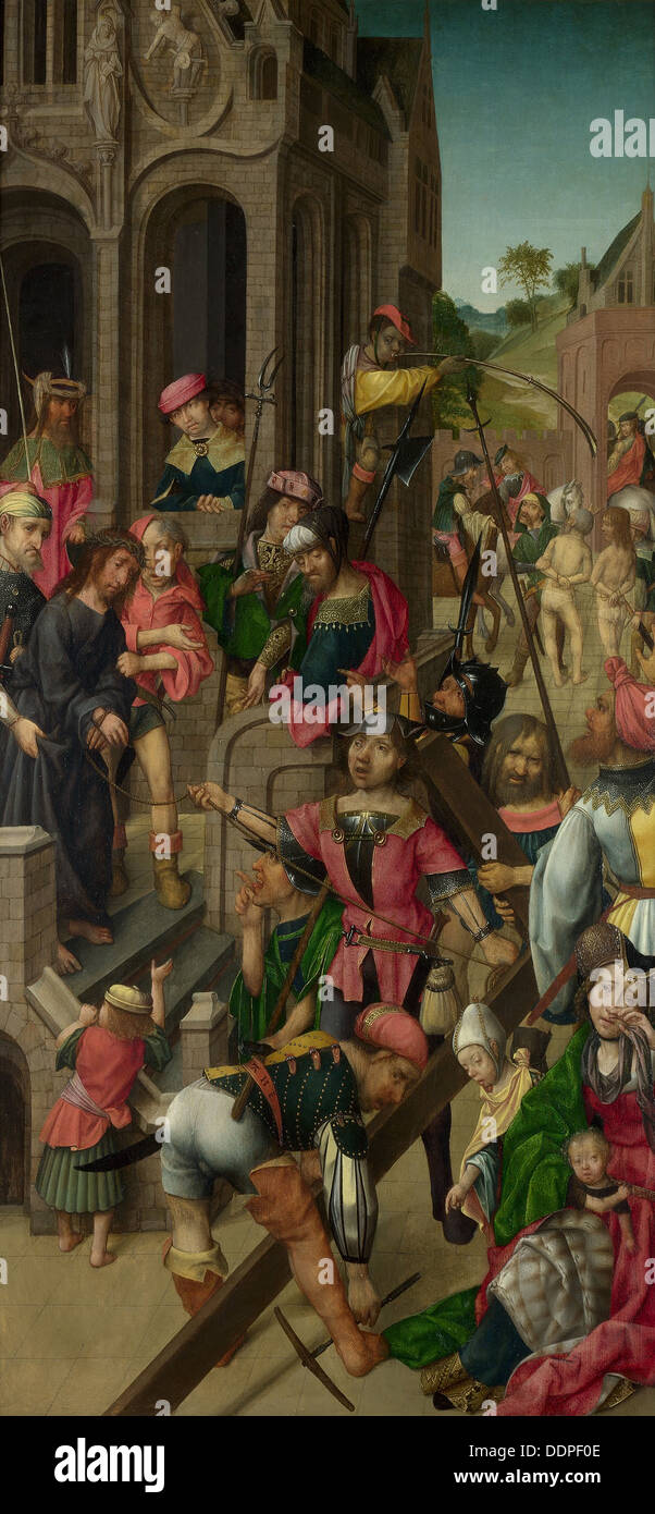 Christ presented to the People (Triptych: Scenes from the Passion of Christ, left panel), c. 1510. Artist: Master of Delft (acti - Stock Image