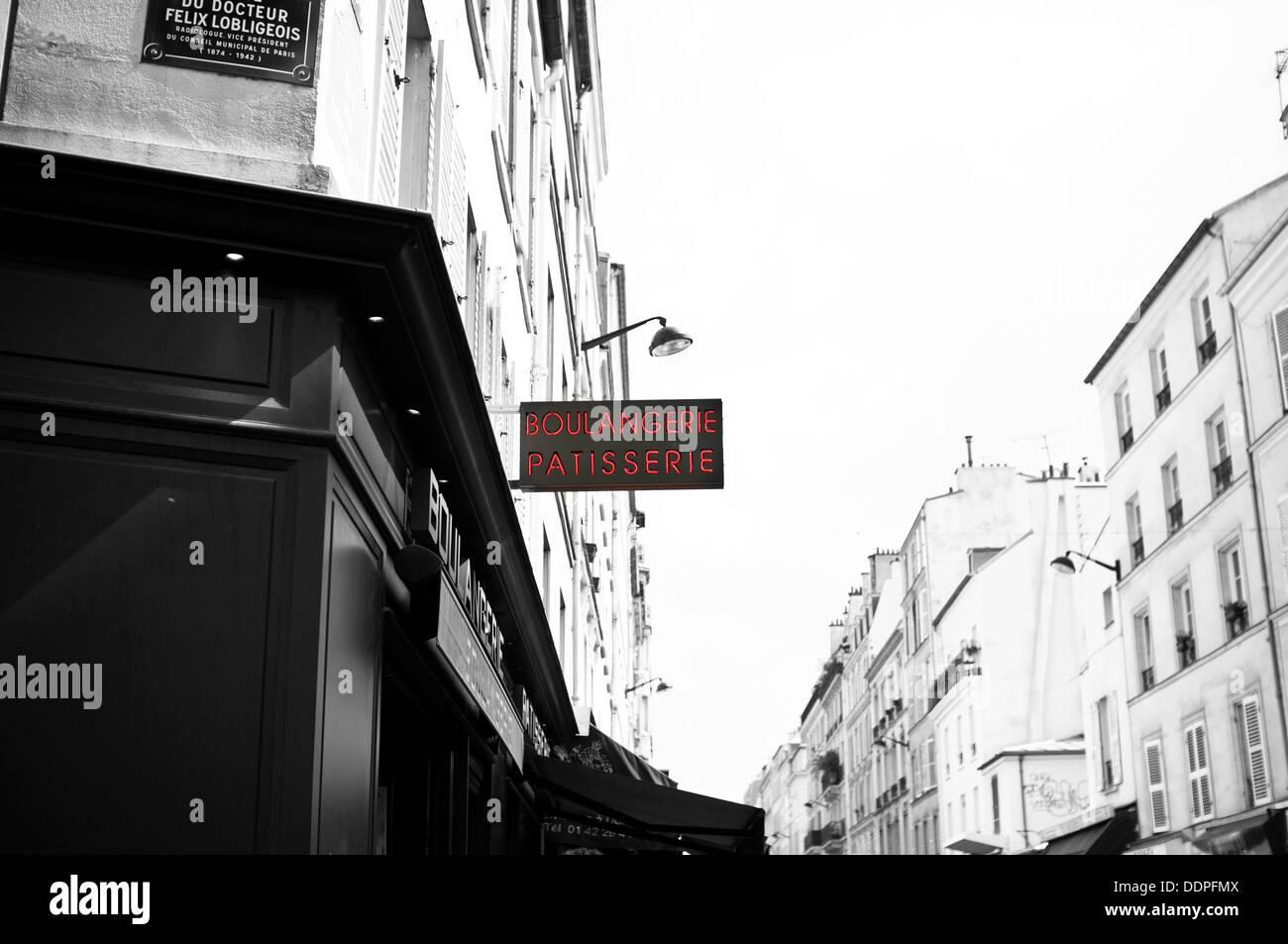 boulangerie patisserie in paris france - Stock Image