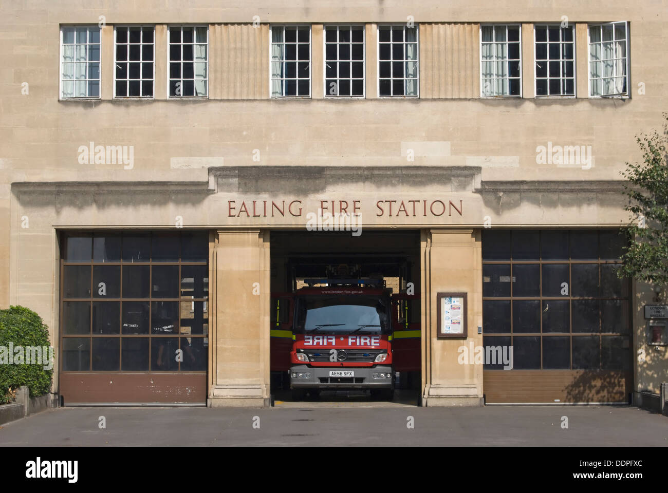 exterior of the 1931 ealing fire station, ealing, london, england - Stock Image