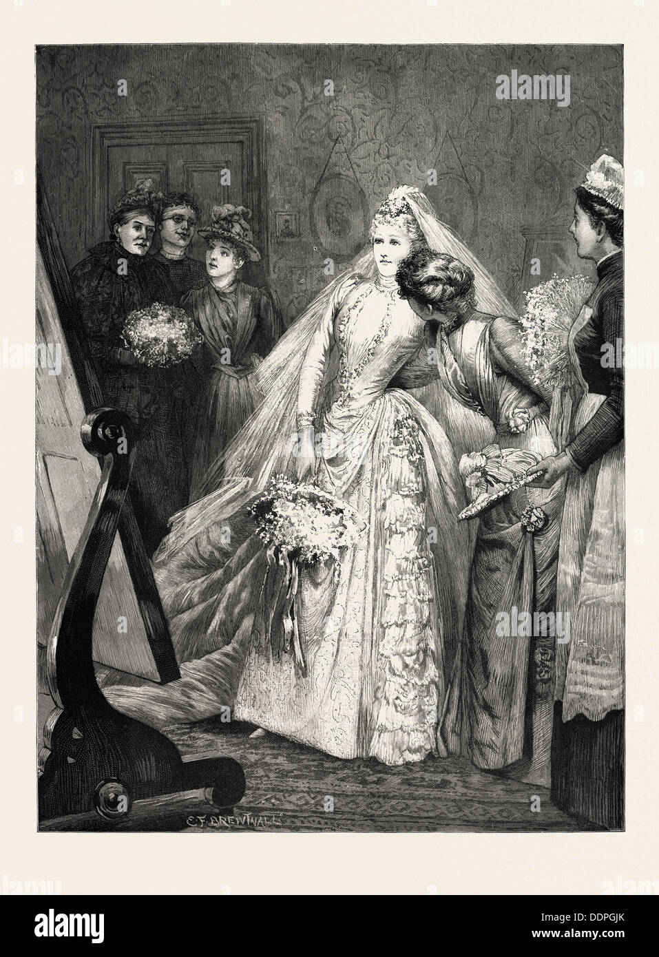 THE SUPREME MOMENT, engraving 1890, engraved image, history, arkheia, illustrative technique, engravement, engraving, victorian - Stock Image