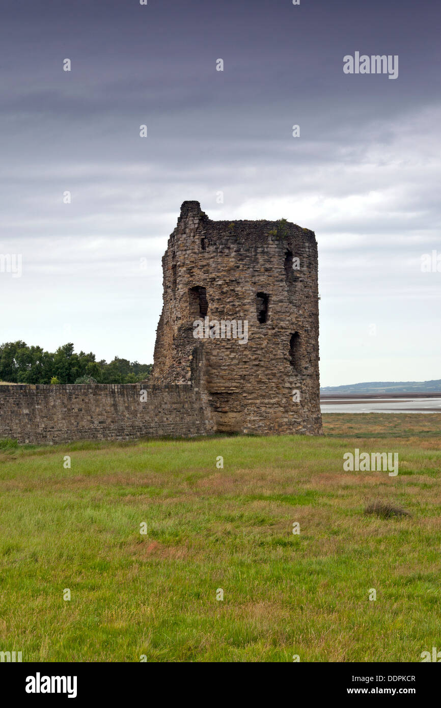 Flint Castle North East Tower North Wales Stock Photo