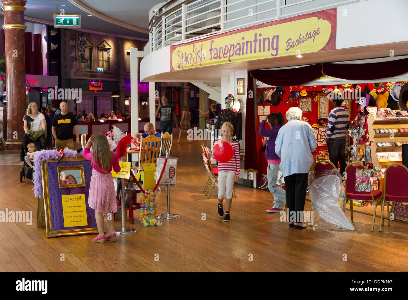 Childrens facepainting shop in the Orient at The Intu Trafford Centre, Manchester, England. - Stock Image