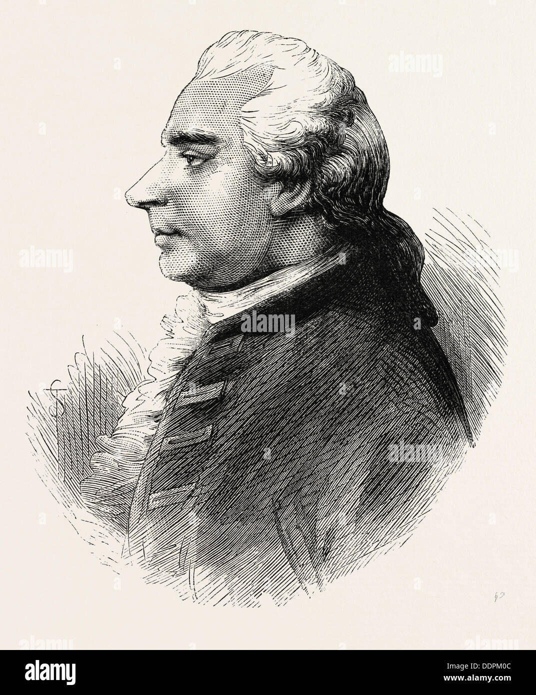 Silas Deane, 1737-1789,  was an American merchant, politician and diplomat, US, USA, 1870s engraving - Stock Image
