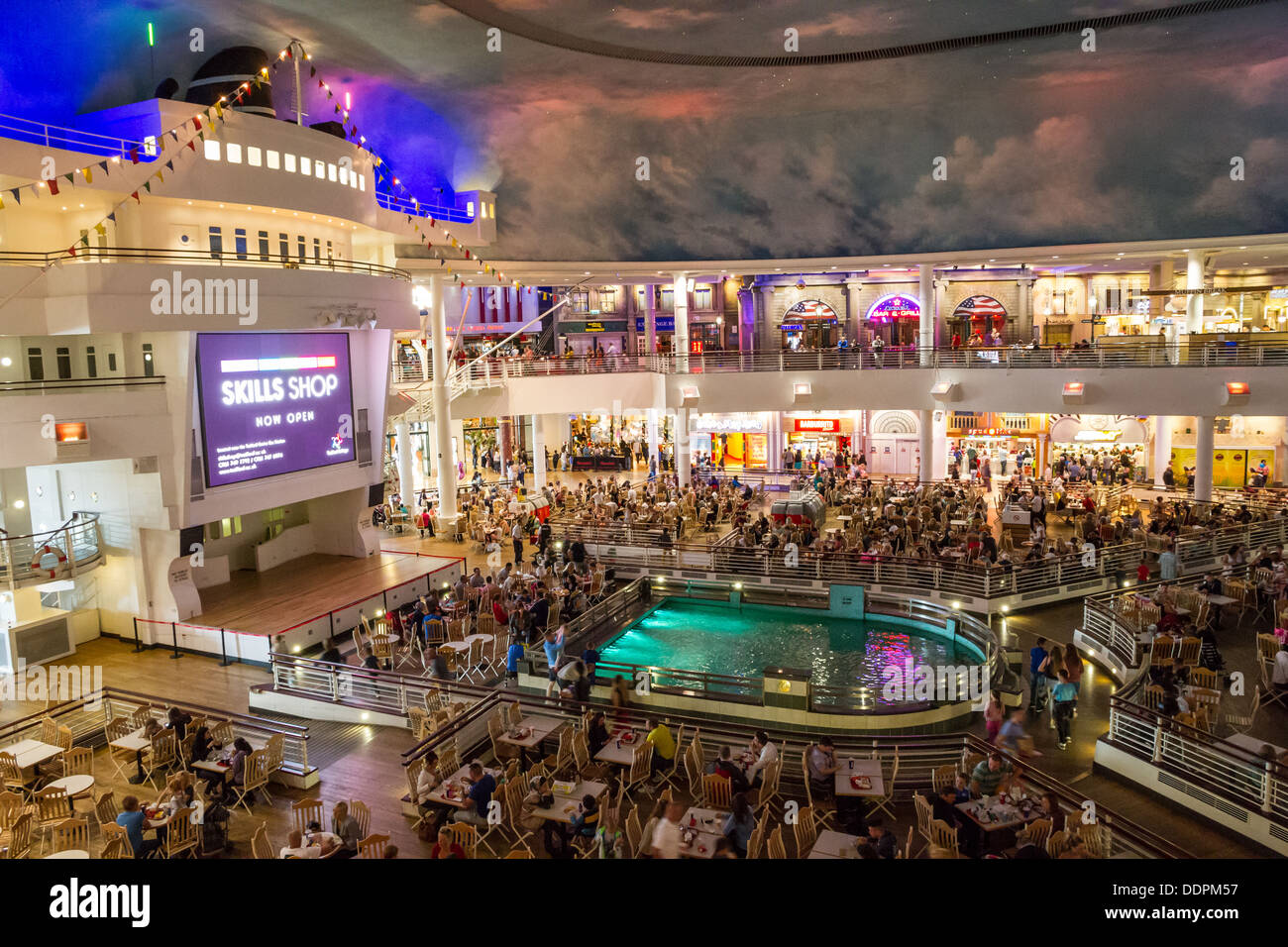The Orient Food Court in The Intu Trafford Centre, Manchester, England. - Stock Image