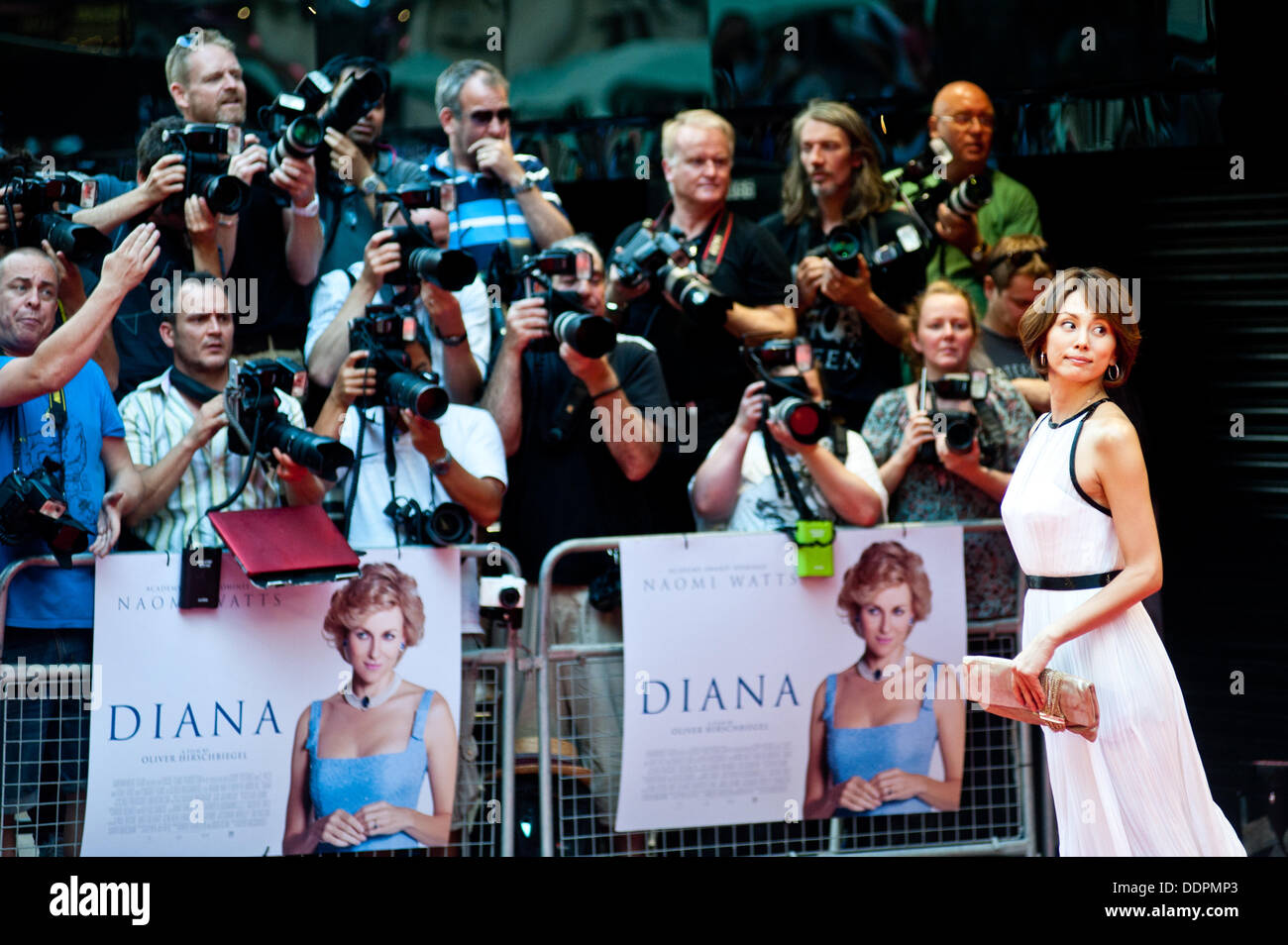 London, UK - 5 September 2013: Ryoko Yonekura (Japanese voice over for Diana) poses for pictures at the Diana world premiere at the Odeon Cinema in Leicester Square. Credit:  Piero Cruciatti/Alamy Live News - Stock Image