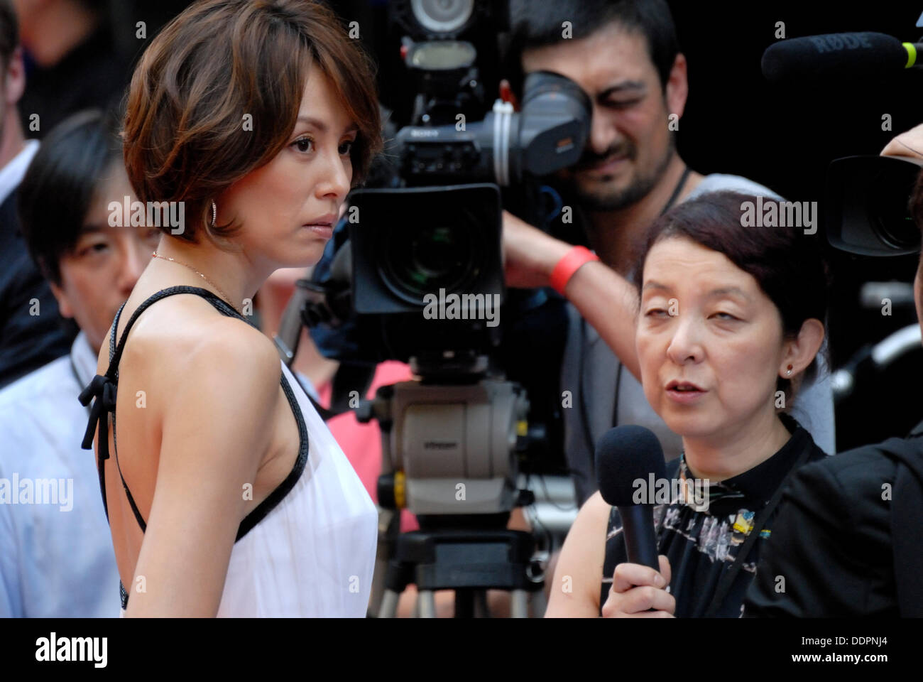Leicester Square, London, UK. 05th Sep, 2013. 'Diana' World Premiere, Leicester Square, London, Sept 5th, 2013. Ryoko Yonekura (Japanese voice over for Diana) - Stock Image