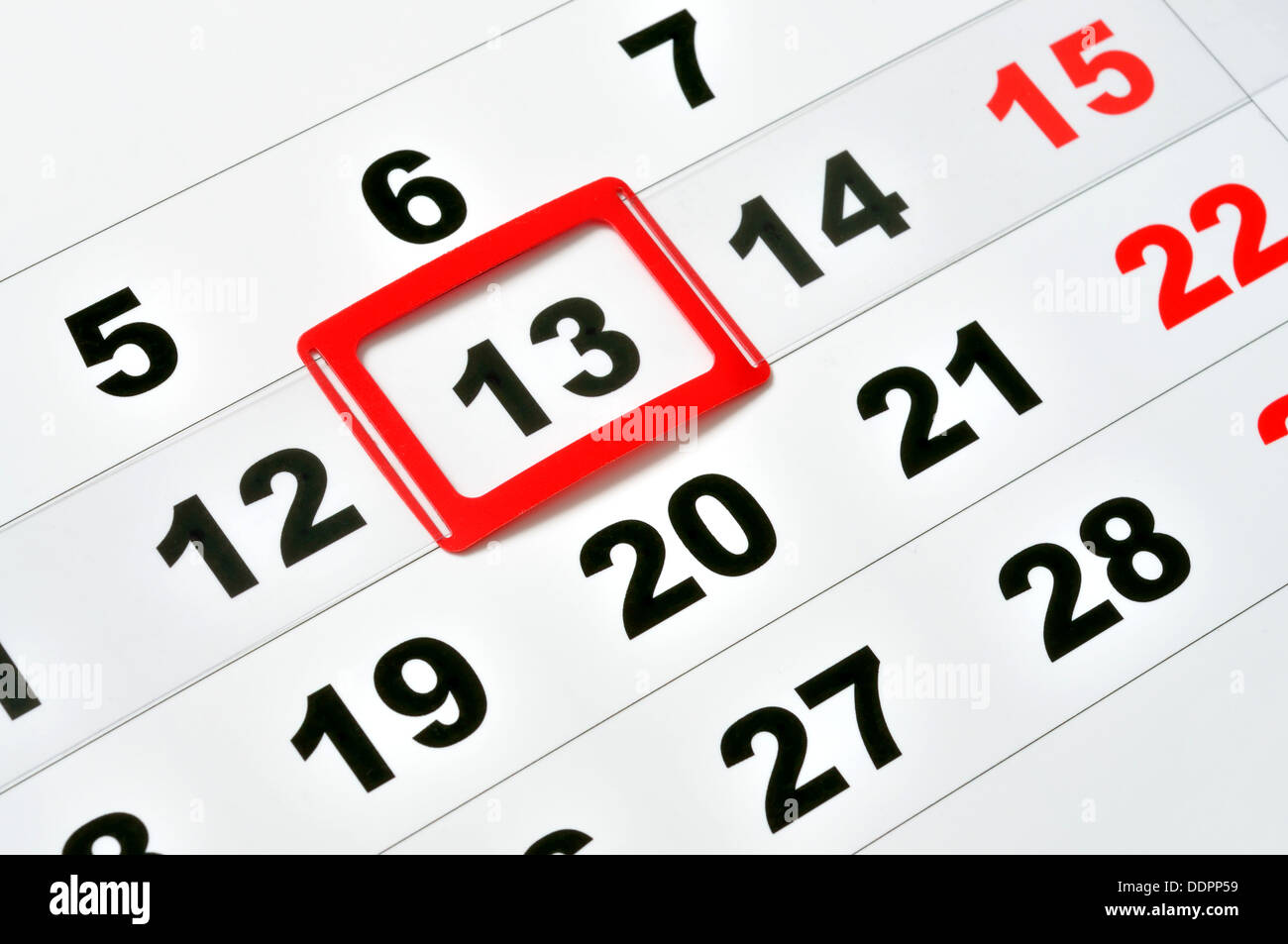 Friday the 13th - Stock Image