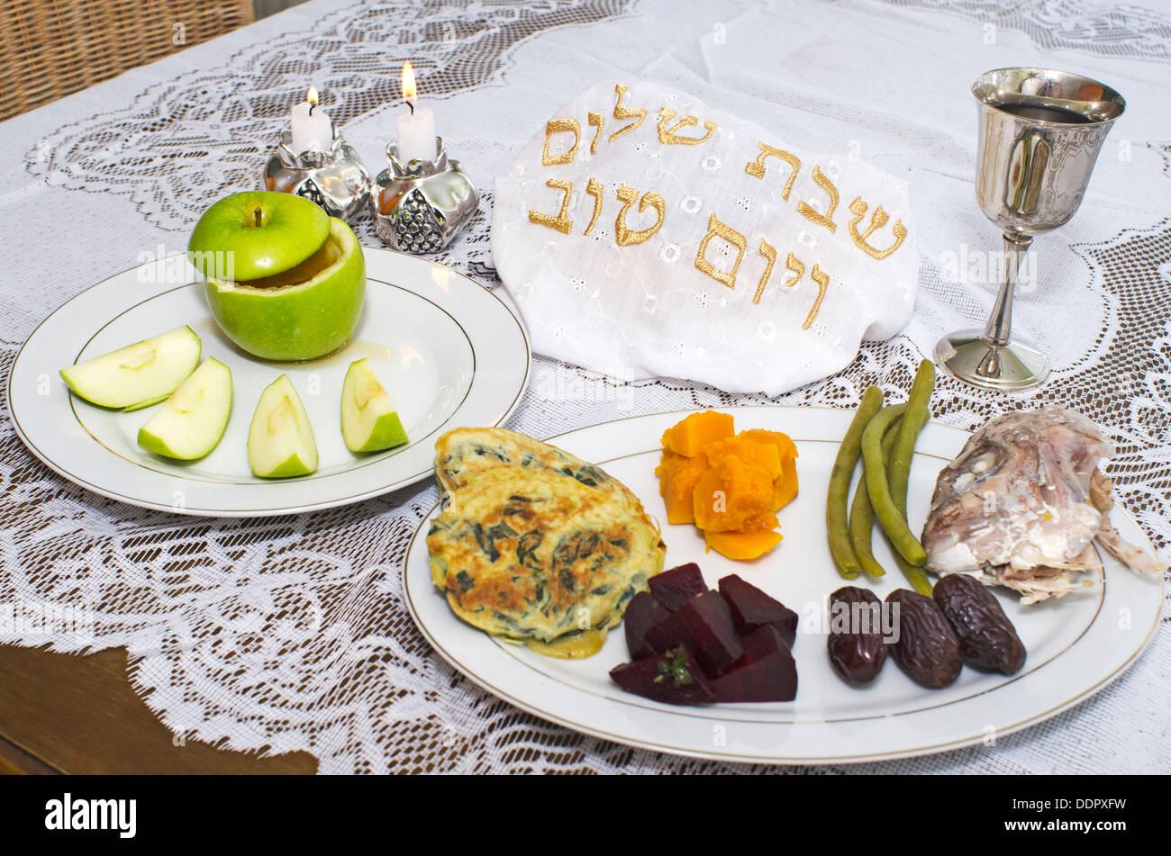 Jewish New Year - Rosh Hashanah , apple with honey ...