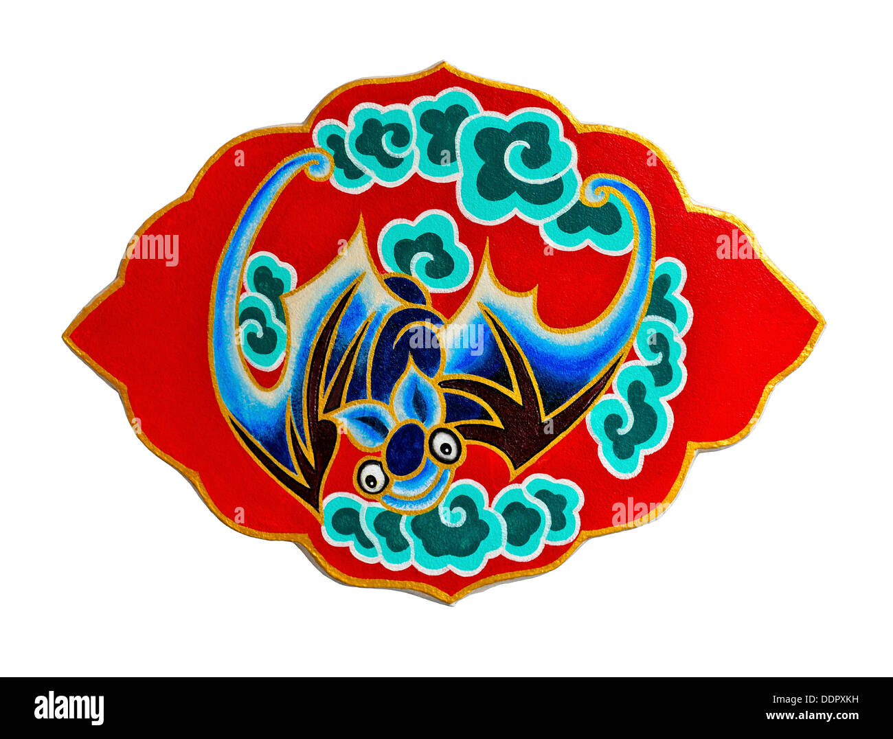 bat in chinses culture means good fortune and happiness - Stock Image