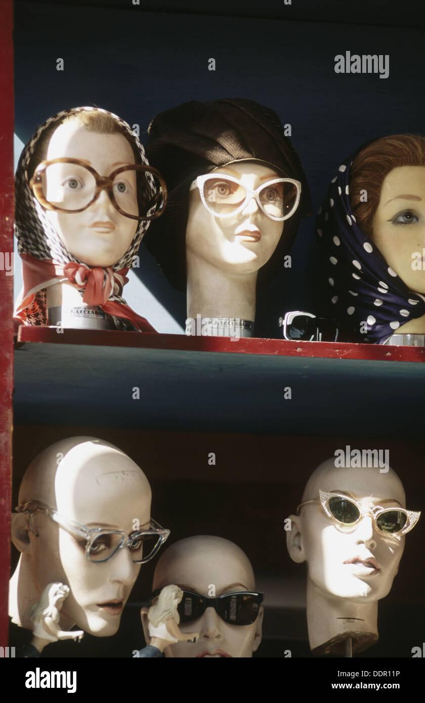 Second hand sunglass shop. Amsterdam, Netherlands. - Stock Image