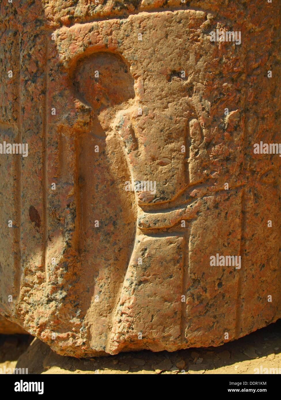 Relieve, Museo de Memphis, Egipto - Stock Image