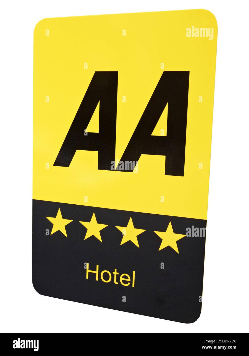 AA 4star hotel sign UK - Stock Image