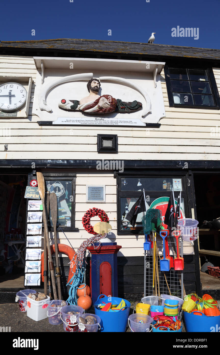 The Pier House Harbour shop Broadstairs Kent England - Stock Image